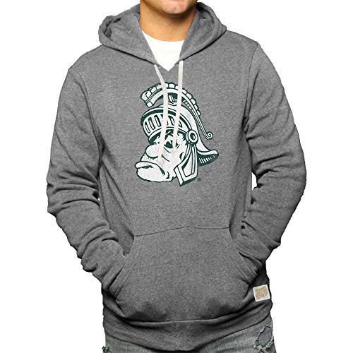 Elite Fan Shop Michigan State Spartans Retro Hooded Sweatshirt Gray - XXL