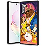 DISNEY COLLECTION Beauty and The Beast Design for Samsung Galaxy Note 10 Case Soft TPU and PC Cover Retro Stylish Classic Cover