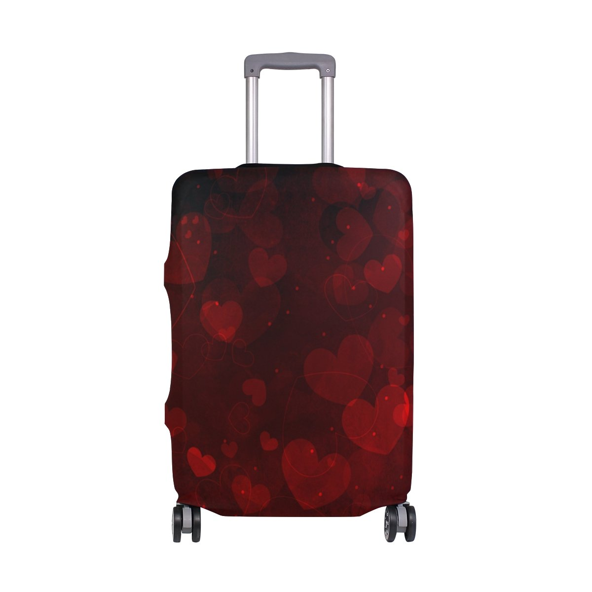 ALAZA Hearts Valentine's Day Wedding Luggage Cover Fits 30-32 Inch Suitcase Spandex Travel Protector XL