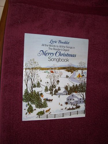 Lyric Booklet for Reader's Digest Merry Christmas Songbook