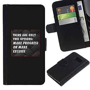 All Phone Most Case / Oferta Especial Cáscara Funda de cuero Monedero Cubierta de proteccion Caso / Wallet Case for Sony Xperia Z3 Compact // progreso gris negro sin excusas inspirando