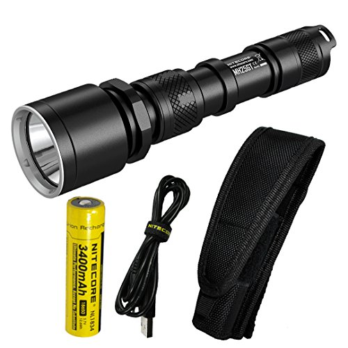 175 Lumens Flashlight - Nitecore MH25GT 1000 Lumen USB Rechargeable LED Flashlight - Long Range Throwing with Lumen Tactical Adapters (Upgrade for MH25)
