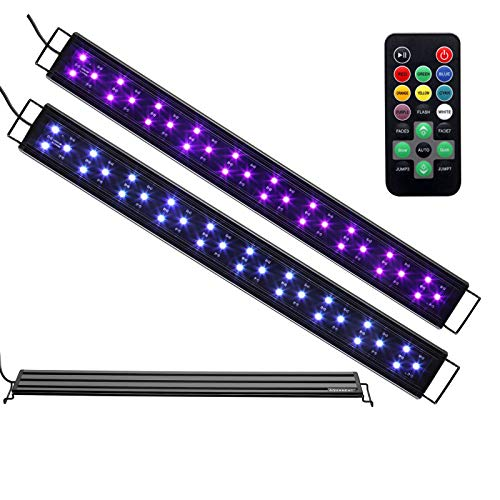 "Aquaneat LED Aquarium Light Remote Control Color Changing Dimmable 24"" 15 gal Fish - Light Changing Color Aquarium"