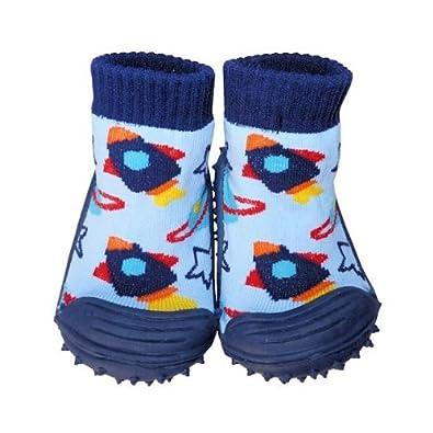 C2BB - Zapatillas-calcetines bebé niño antideslizantes suela flexible para niños | Pequeño cohete - Tamaño 19: Amazon.es: Zapatos y complementos