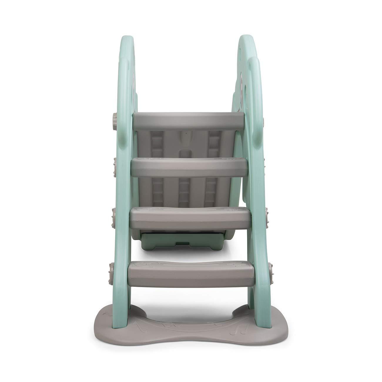 Baby Vivo Tobog/án Parque para Infantil Ni/ños Recto Diapositiva Interior y Aire Libre Juguetes Jard/ín Delf/ín en Rosa
