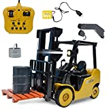 1:8 RC 8CH Forklift Truck, Sonmer Simulation Construction Toys,With 2.4GHz Remote Control,Perfect Christmas Birthday Present For Kids(Above age 8)