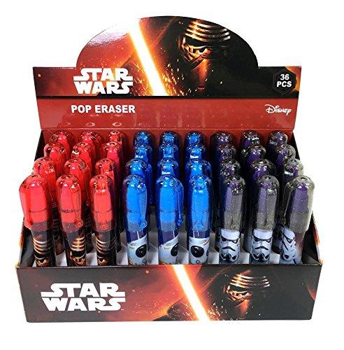 Disney Star Wars Pop Up Eraser 3 Assorted Design 36 Pieces (Complete Box) by Disney (Image #2)