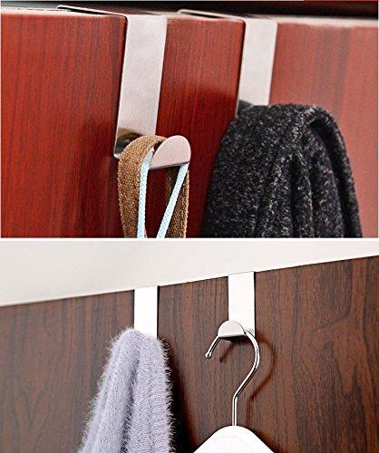 Tsuen 12 Pack Over The Door Hooks Z Shaped Hooks Hangers, Heavy Duty Metal Hanging Hooks Hangers Clothes Storage Rack for Kitchen, Bathroom, Bedroom, Work Shop, Garden and Office (3 x 4.5 x 6cm) by Tsuen (Image #6)