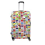 Ful Flags 20in Spinner Rolling Luggage Suitcase Carry-On Luggage, Multi-color Review