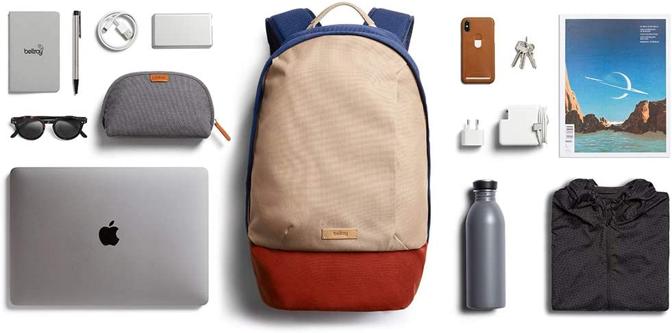 20 liters, 15 laptop Black Bellroy Classic Backpack Second Edition