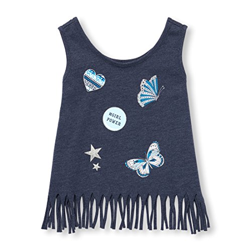 Baby Girls Racerback Casual Tank Top, EVENINGBLU 98139, 5T ()