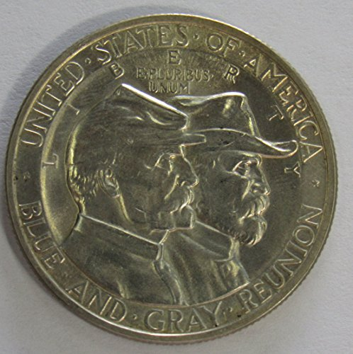 1936 P Battle of Gettysburg Silver Commemorative Half Dollar 50c Gem Brilliant - Gem Dollar Commemorative Half