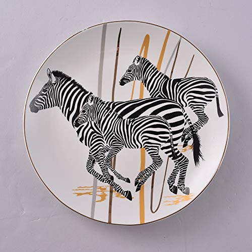 Lannmart Modern Wall Decoration Plates Animal Zebra Living Room Wall Home Accessories TV Background Wall Decorations Wall Hanging