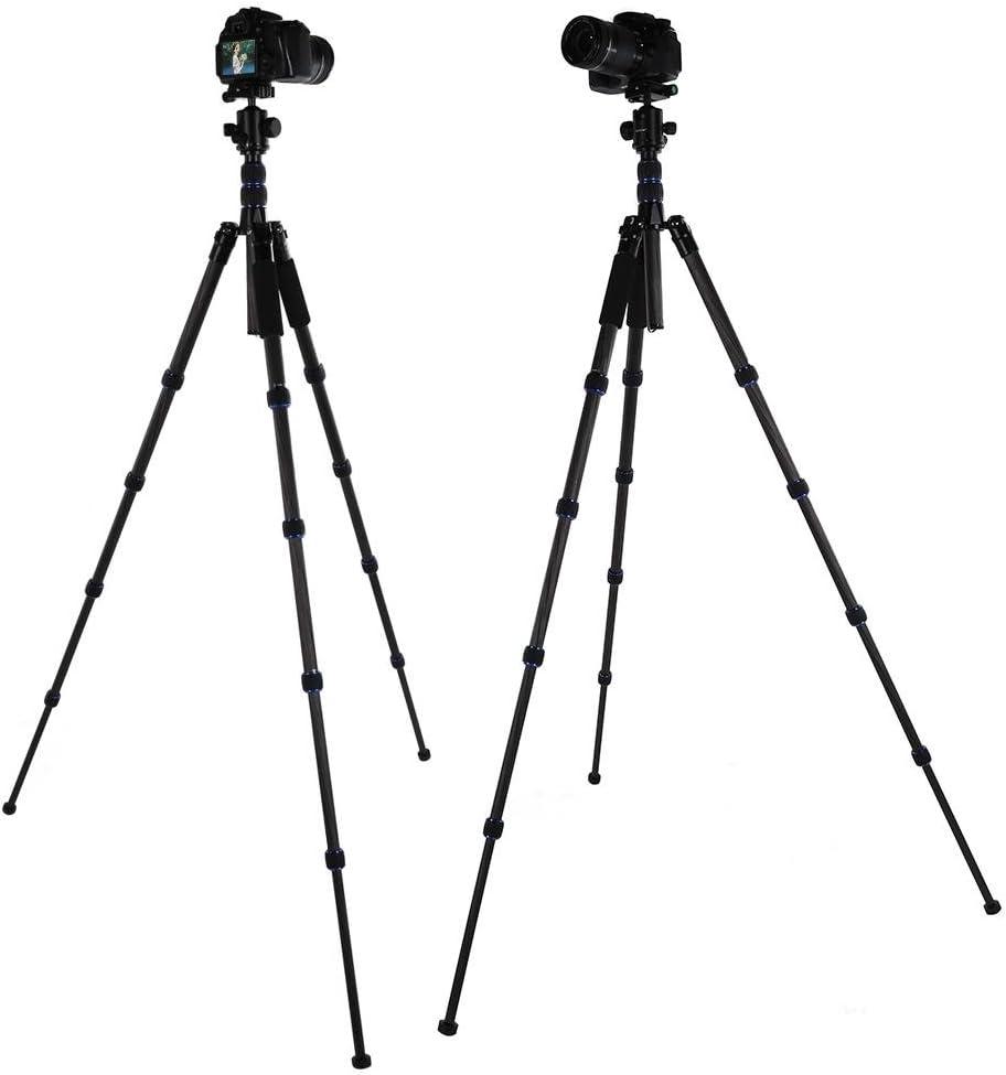 Veledge VD-302 Ball Head Carbon Fiber 5 Segment Folding Camera Tripod Stand