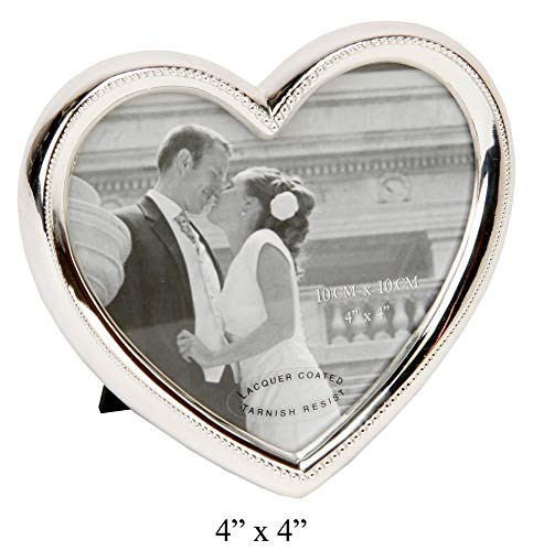 Elegant Silver Plated Heart Shaped Photo Frame By Haysom Interiors ()