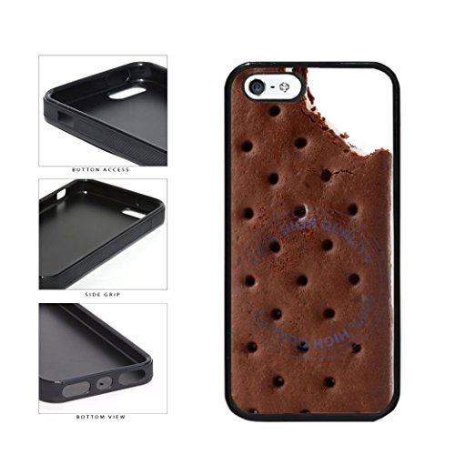 BleuReign(TM) Funny Half Eaten Ice Cream Sandwhich TPU RUBBER SILICONE Phone Case Back Cover For Apple iPhone 5 5s (Dripping Ice Cream Iphone 5s Case compare prices)