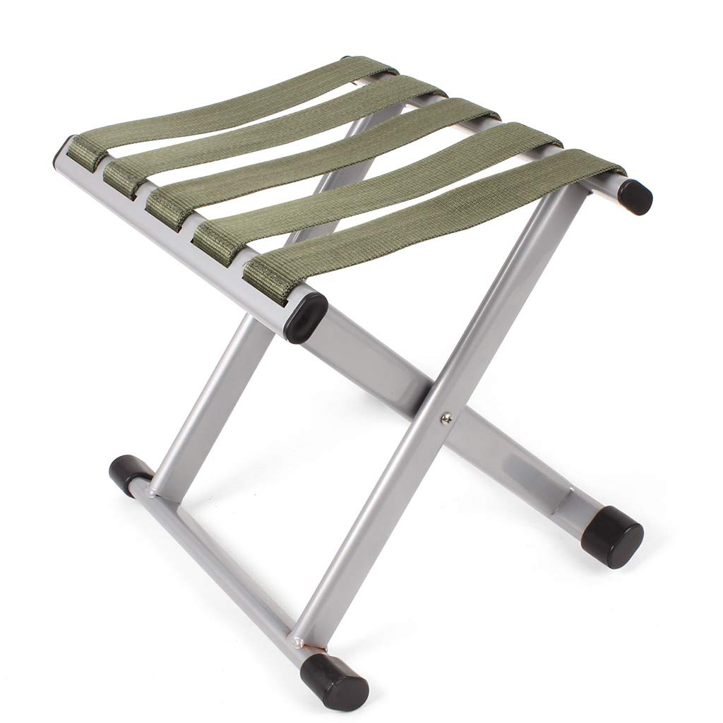 Luggage Racks- Folding metal outdoor Mazar stool Leisure fishing beach nylon rope stool Multi-function home Hotel luggage rack Sofa stool Foot stool Size: 292427cm