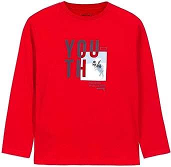 Mayoral Camiseta Manga Larga Skate Park Niño Rojo: Amazon.es ...