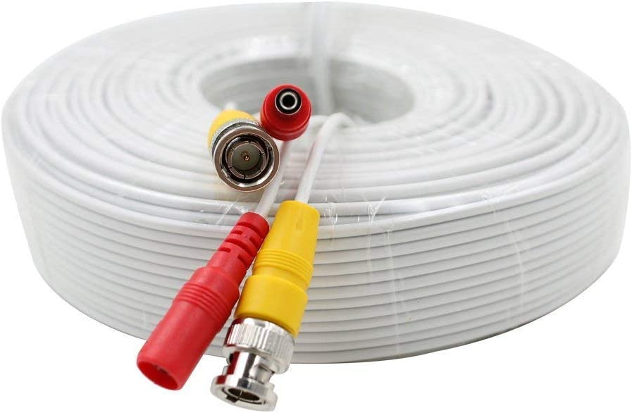 50 Ft Power /& Video Pre-made Ready-Made Siamese Cable for CCTV Security Camera
