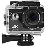 Acouto Action Camera Ultra HD 4K 16M 2 Inch Screen Wifi Sport Cam 170 Degree Wide Angle Underwater 30m with Waterproof Case and More Accessories Kits