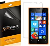 [6-Pack] Supershieldz- Anti-Bubble High Definition Clear Screen Protector For Microsoft Lumia 435 + Lifetime Replacements Warranty - Retail Packaging