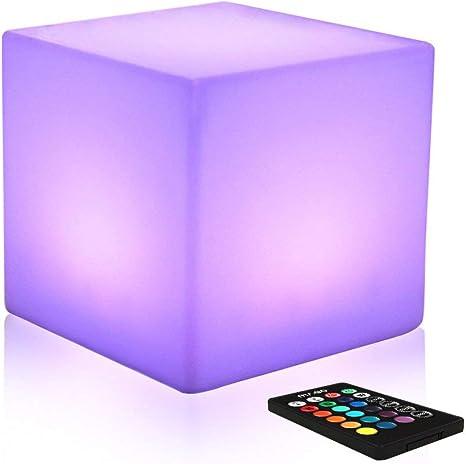 Lámpara de mesa LED con cambio de color de 10 pulgadas, luz de ...