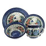 Polish Pottery Kristina 4 PC Dinner Set