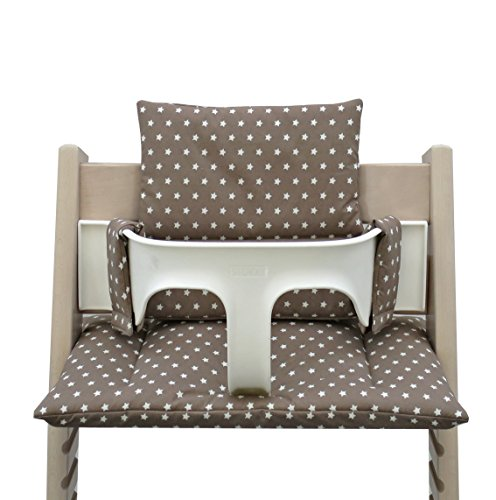 Blausberg Baby - Coated Cushion Set for Tripp Trapp High Chair of Stokke - Taupe Stars