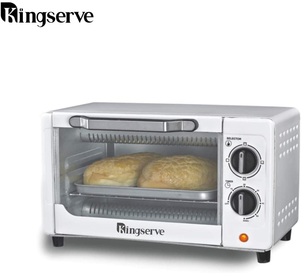 KingServe Small Toaster Ovens,Modern Convection Bake Oven Countertop,Small Home Appliances Compact Toaster Oven,High Quality Kitchen Stainless Steel Toaster Convection Ovens Countertop Silver