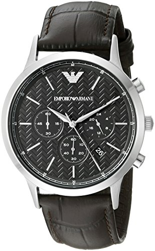 (Emporio Armani Men's AR2482 Dress Brown Leather Watch)