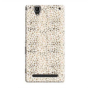 Cover It Up - Brown White Pebbles Mosaic Xperia T2 Ultra Hard Case