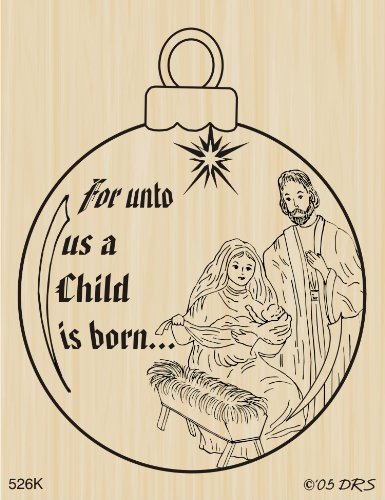 - Nativity Ornament Rubber Stamp By DRS Designs