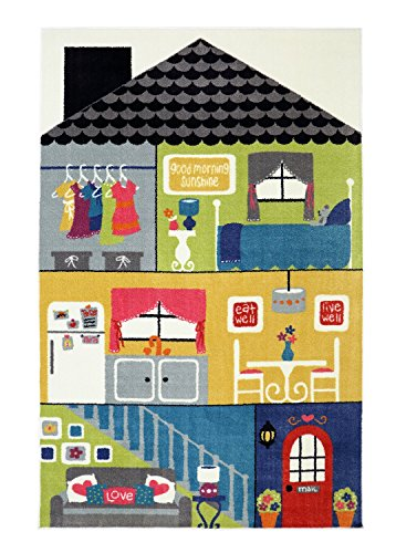 Mohawk Home Lovely Dollhouse Rug, 5' by 8', Multicolor- Family Room Ideas - Make quick & easy changes to any room in your home in minutes by changing the rug - add color & patterns