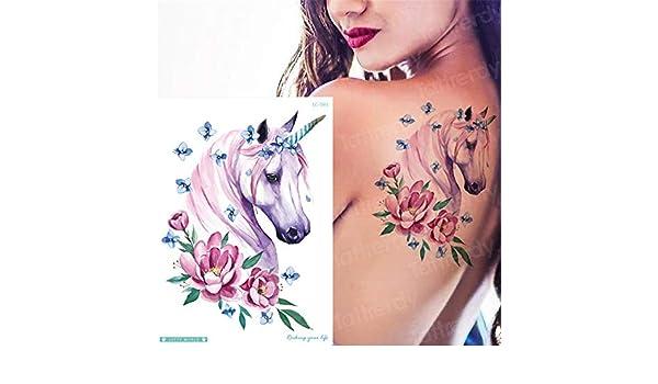 5Pcs-Nuevo diseño de Flor de Zorro Tatuaje Impermeable Acuarela ...