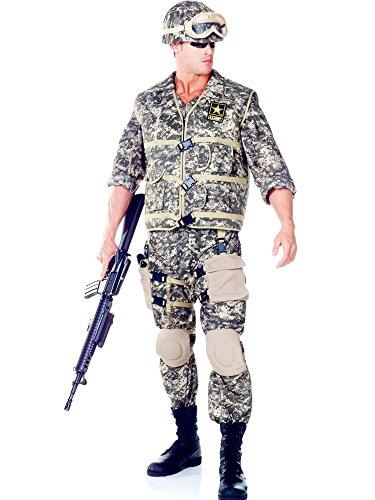 Underwraps Men's Army Ranger DLX Adult, Camo, One Size