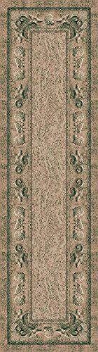 Milliken Signature Collection Sand Castles Runner Area Rug, 2'1 x 7'8, Peri dots and stone - Peridot Signature Collection