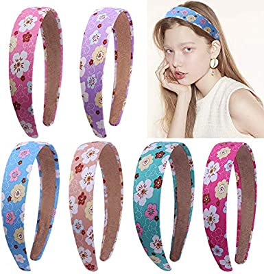 5 Mixed Color Plastic Butterfly Headband Aliceband Hair band With Teeth for Girl