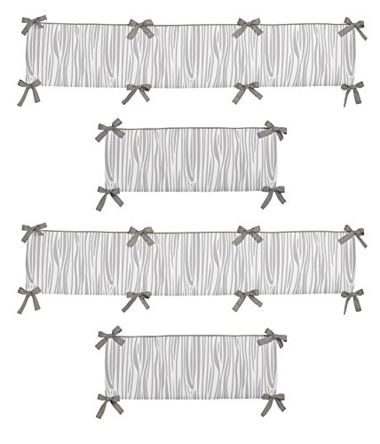 Sweet Jojo Designs Grey and White Wood Grain Baby Crib Bumper Pad for Woodsy Collection by by Sweet Jojo Designs (Image #3)