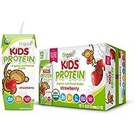 Orgain Kids Protein Organic Nutritional Shake, Strawberry, Gluten Free, Kosher, Non-GMO, 8.25 Ounce, Pack of 12