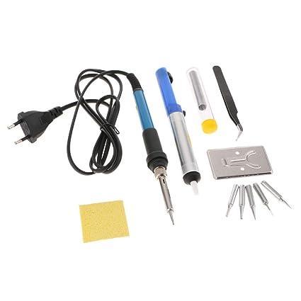 Sharplace Kit de Soldadura Electrónica Herramienta Temperatura Ajustable Terminales Kits de Instalación Eléctrica