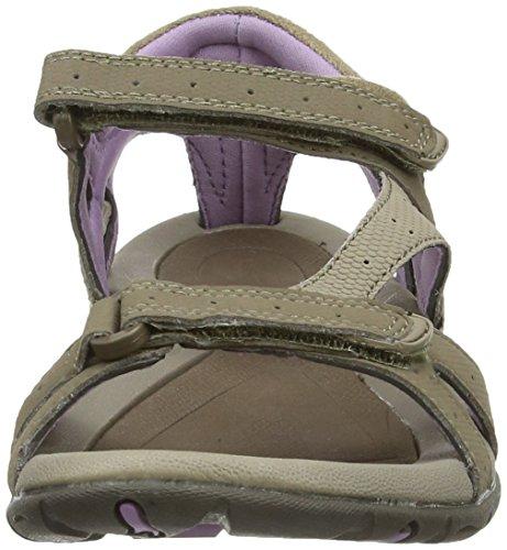 Hi-Tec Galicia Strap - Sandalias de senderismo de sintético para mujer Beige (Taupe/Dune/Elderberry 041)