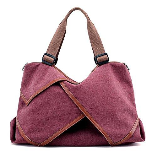 Aoligei Toile sac grand Volume tendance femme sac toile sac fashion couture sac en tissu sac femme grand lavage A