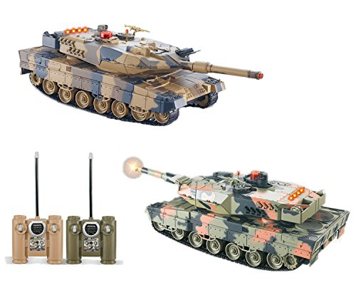 2-Set Main Battle Tanks RC 1/24 Infrared LED Tank R/C US - Radio Tank Battle Scale Controlled