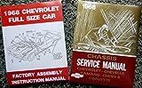 1968 CHEVROLET FULL-SIZE PASSENGER CAR REPAIR SHOP & SERVICE MANUAL +...