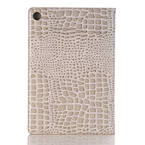8 MediaPad Co 10 Pattern Ultrathin Closure Leather M5 Foldable Skull for PU Leather Inch and Bookstyle Slot Card Magnetic Case Case Huawei Function Holster Cover LMFULM® of Stent Leather White Flower Flip qwAtYY