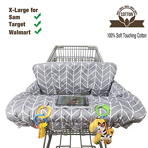 Buy Cheap Shopping Cart Cover for Baby Cotton High Chair Cover Reversible Full Safety Harness, Machi...