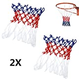 TraderPlus 2Pcs Standard Durable Nylon Basketball Goal Hoop Net Netting Sports