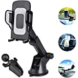 Car Phone Mount Universal Phone Holder for Car Cell Phone Car Air Vent Holder Dashboard Windshield Car Mount Compatible iPhone X 8 8 Plus 7 7 Plus SE 6s 6 Plus 5s Samsung,Galaxy,Note,LG
