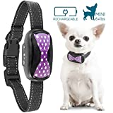 GoodBoy Small Rechargeable Dog Bark Collar for Tiny to Medium Dogs Waterproof and Vibrating Anti Bark Training Device That is Smallest and Most Safe On Amazon - No Shock No Spiky Prongs! (6+ lbs) (Purple)