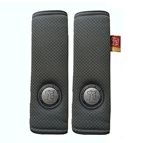 GiGi Memory Foam Auto Car Seat Belt Cover Shoulder Pad Cushion One Pair (Grey) ()